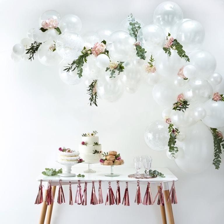 Balónová Brána - Biela (70ks)
