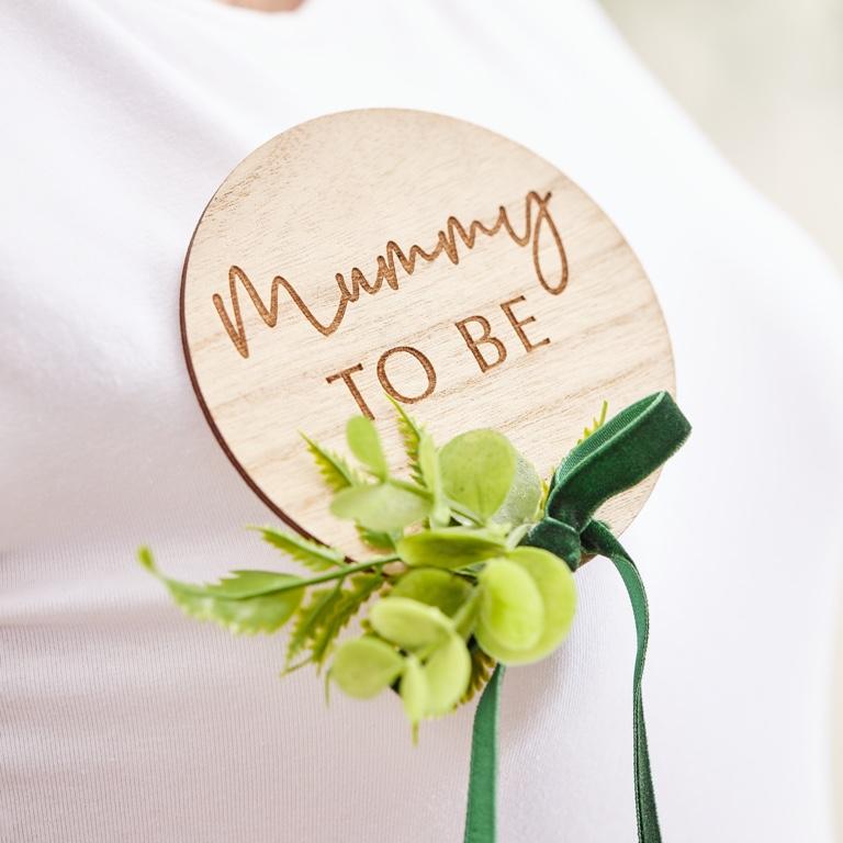 Drevený Odznak - Mummy To Be