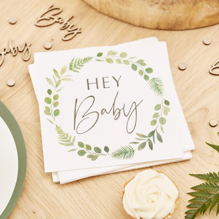 Papierové Servítky - Hey Baby (16ks)