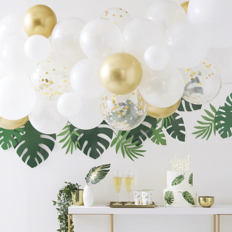Balónová Brána - Matná Zlatá (55ks)