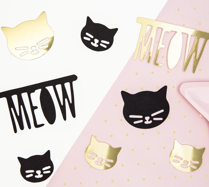 Papierové Dekorácie - Mačičky (8ks)