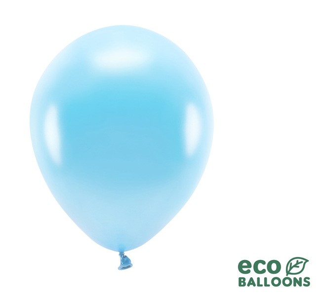 Eko Balóny - Metalická Svetlomodrá - 26 cm (20ks)