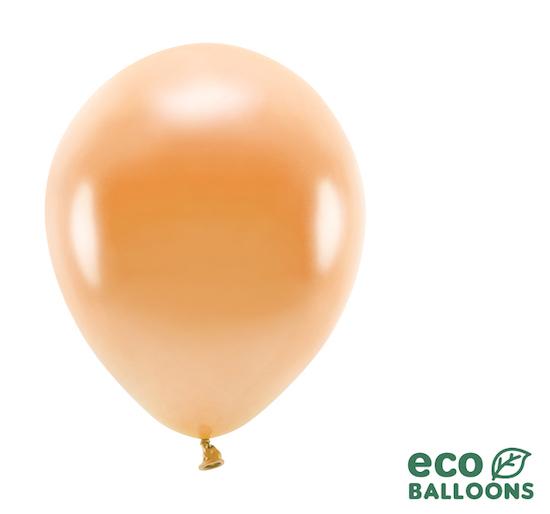 Eko Balóny - Metalická Oranžová - 26 cm (20ks)