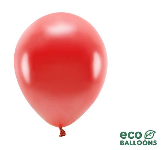 Eko Balóny - Metalická Červená - 26 cm (20ks)