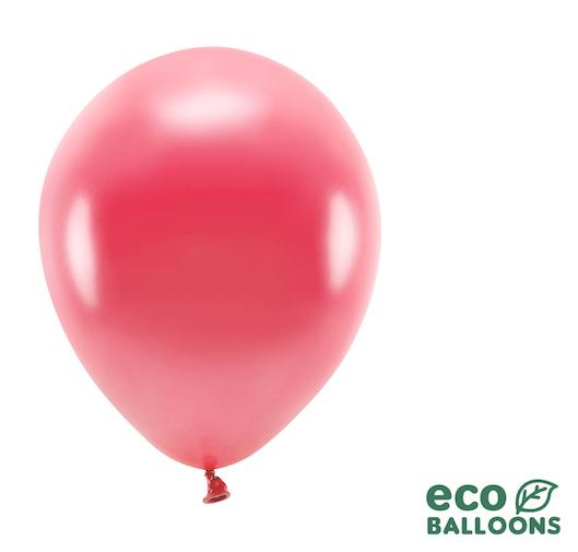 Eko Balóny - Metalická Svetločervená - 26 cm (20ks)