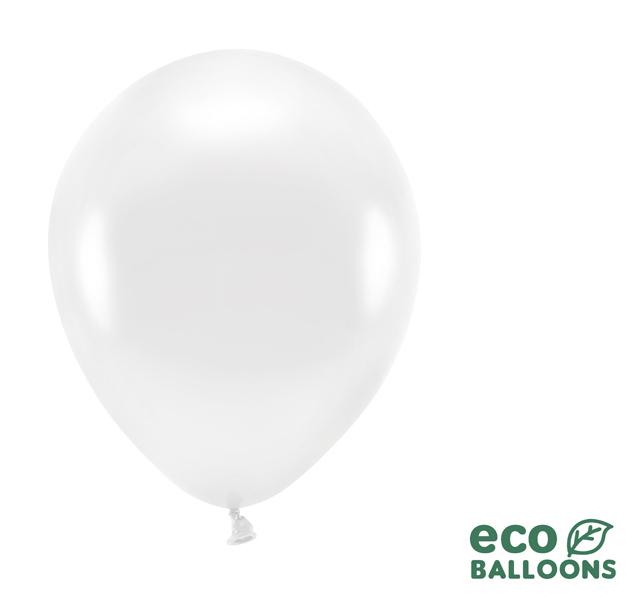 Eko Balóny - Metalická Biela - 26 cm (20ks)