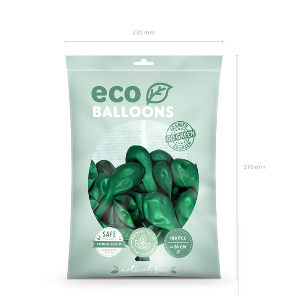 Eko Balóny - Metalická Zelená - 26 cm (20ks)