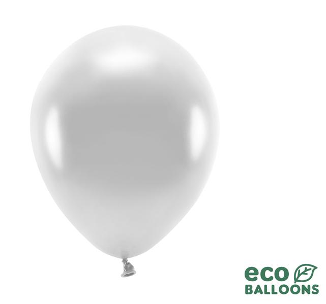 Eko Balóny - Metalická Strieborná - 26 cm (20ks)