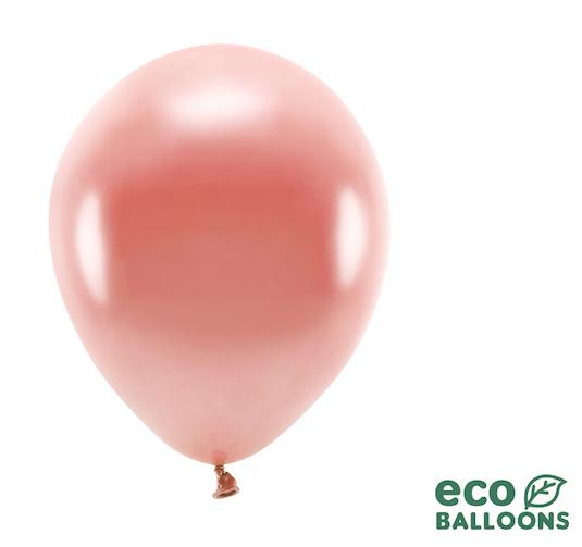 Eko Balóny - Metalická Ružovozlatá - 26 cm (10ks)