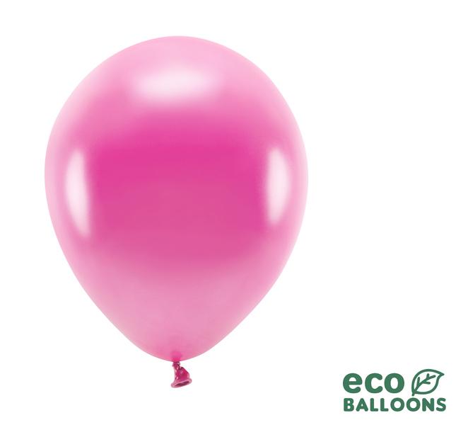 Eko Balóny - Metalická Fuksiová - 26 cm (20ks)