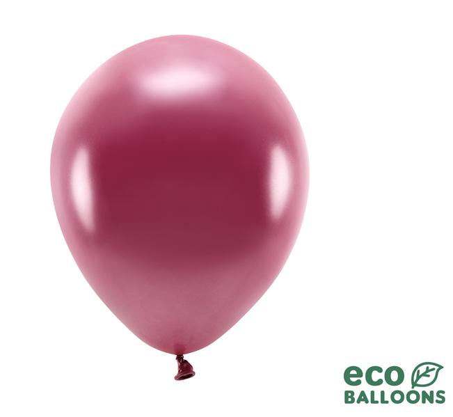 Eko Balóny - Metalická Tmavočervená - 26 cm (20ks)