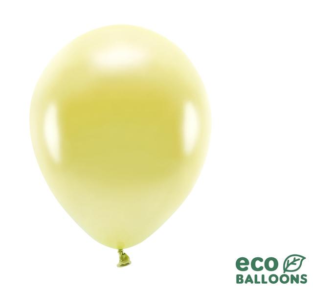 Eko Balóny - Metalická Svetložltá - 26 cm (20ks)