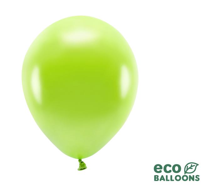 Eko Balóny - Metalické Zelené Jablko - 26 cm (20ks)