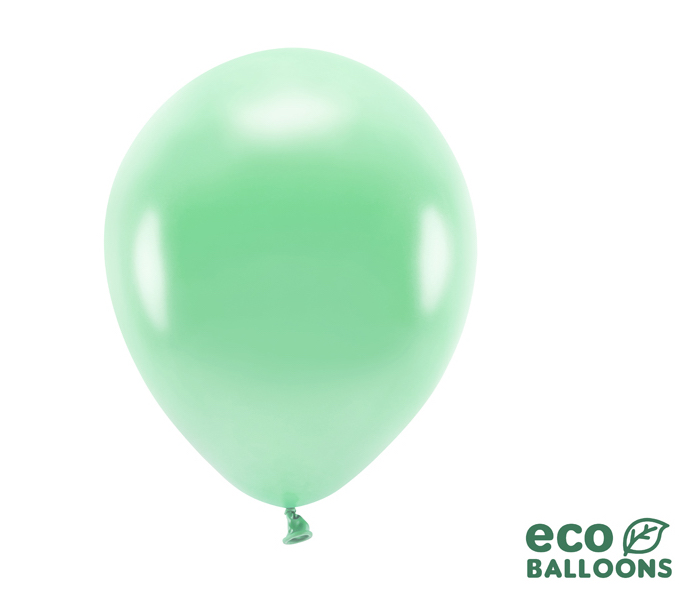 Eko Balóny - Metalická Zelená Mäta - 26 cm (20ks)