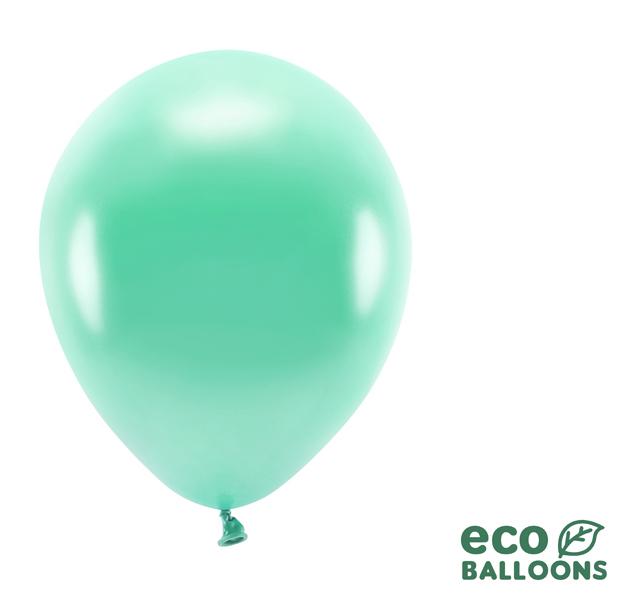 Eko Balóny - Metalická Tmavá Mäta - 26 cm (10ks)
