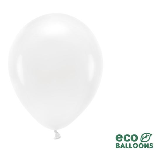 Eko Balóny - Pastel - Biela - 26 cm (10ks)