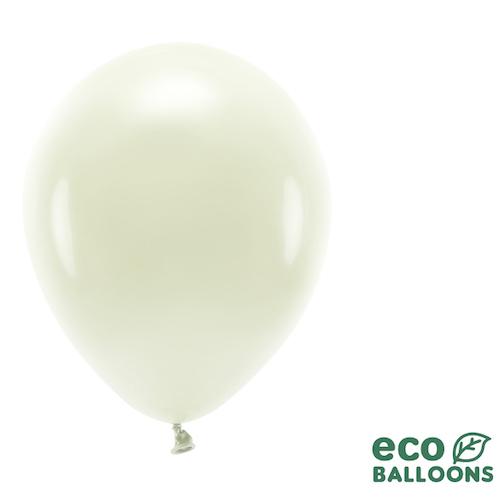 Eko Balóny - Pastel - Krémová - 26 cm (10ks)