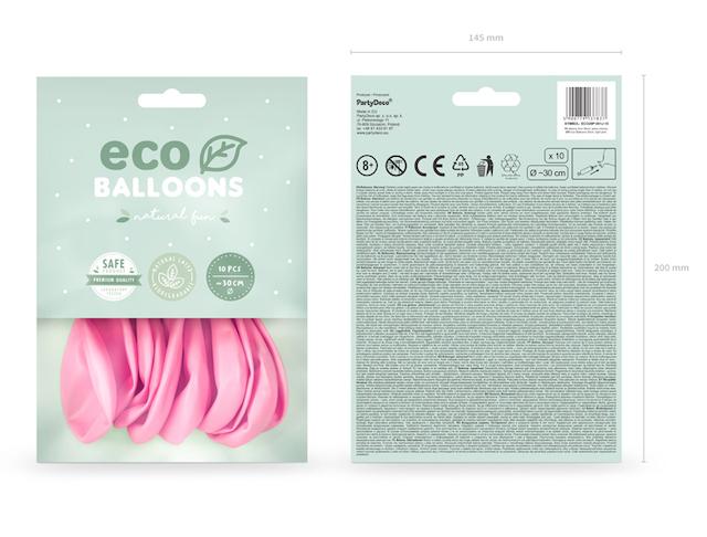 Eko Balóny - Pastel - Svetlo Ružová - 26 cm (10ks)