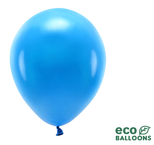 Eko Balóny - Pastel - Modrá - 30 cm (10ks)
