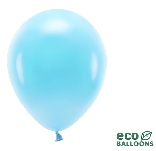 Eko Balóny - Pastel - Svetlo Modrá - 30 cm (10ks)