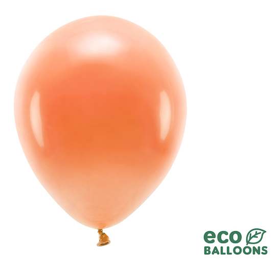 Eko Balóny - Pastel - Oranžová - 30 cm (10ks)