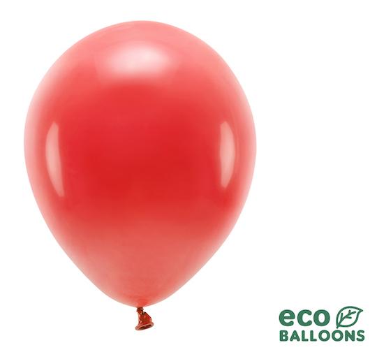 Eko Balóny - Pastel - Červená - 30 cm (10ks)