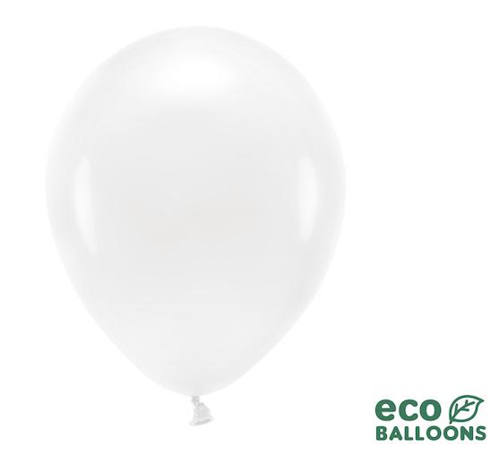 Eko Balóny - Pastelová Biela - 30 cm (20ks)