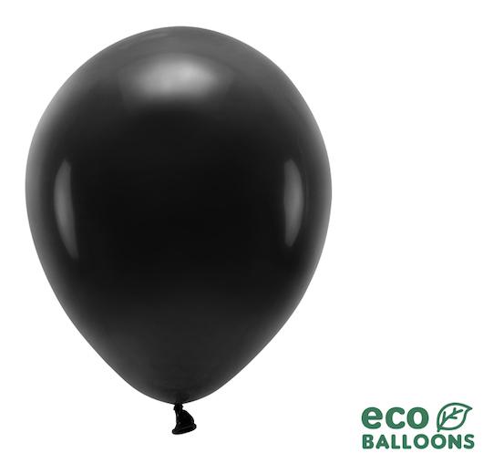 Eko Balóny - Pastel - Čierna - 30 cm (10ks)