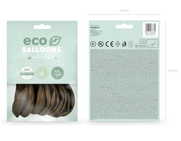 Eko Balóny - Pastel - Hnedá - 30 cm (10ks)
