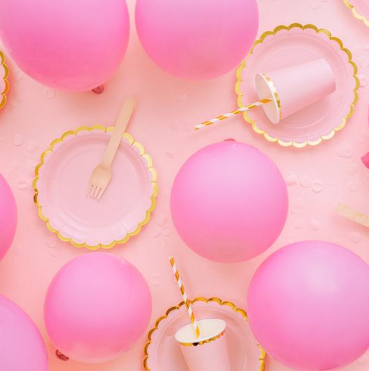 Eko Balóny - Pastel - Ružová - 30 cm (10ks)