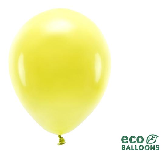 Eko Balóny - Pastel - Žltá - 30 cm (10ks)