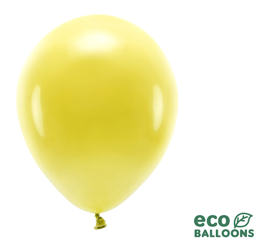 Eko Balóny - Pastel - Tmavo Žltá - 30 cm (10ks)