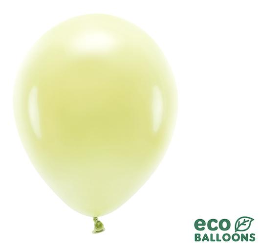 Eko Balóny - Pastel - Svetlo Žltá - 30 cm (10ks)