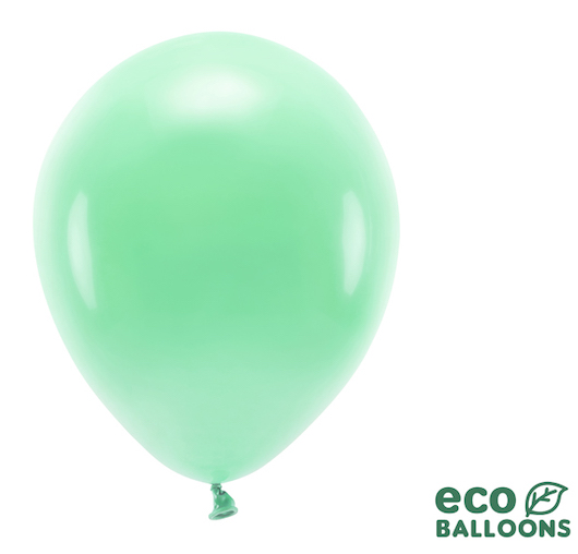 Eko Balóny - Pastel - Mätovo Zelená - 30 cm (10ks)