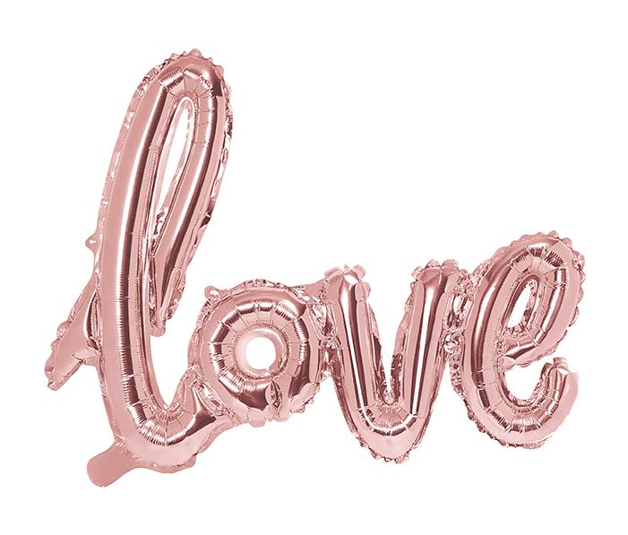 Foliový Balón - Love - Ružovozlatá