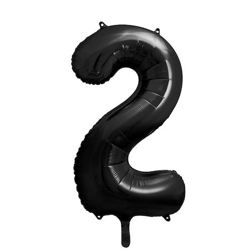 Foliový Balón - 2 - Čierna (86cm)