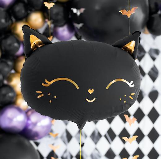 Folióvý Balón - Mačička - Čierna