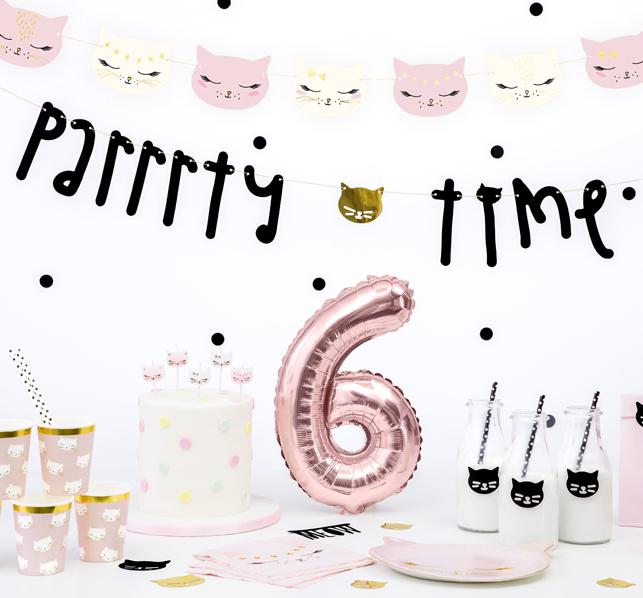 Girlanda - Parrrty Time - Mačičky (3m)