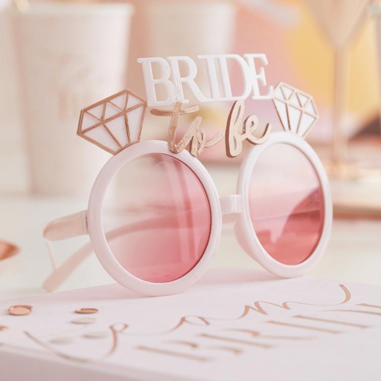Slnečné Okuliare - Bride to Be - Púdrovoružová