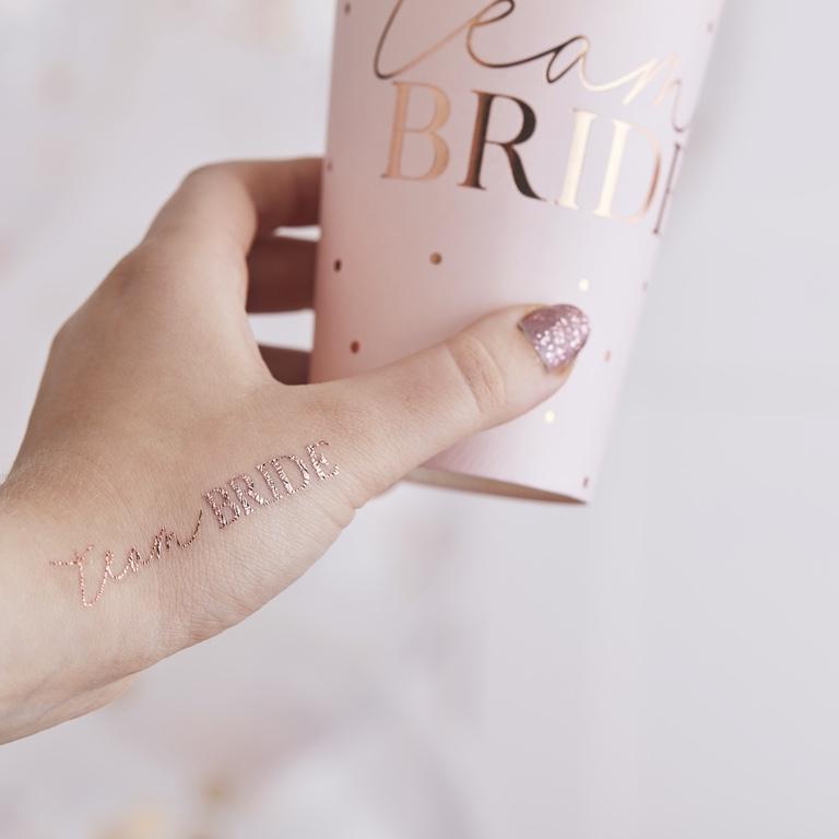 Tetovačky - Team Bride - Púdrovoružová (16ks)