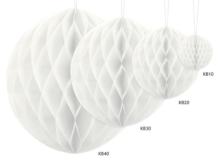 Papierová Guľa - Biela (40cm)