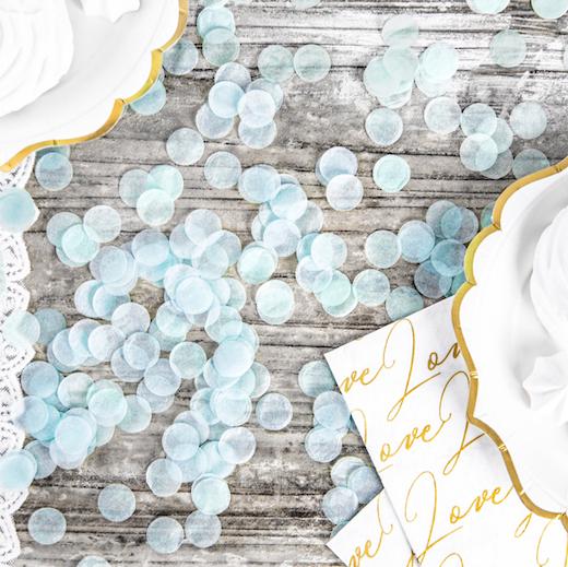 Konfety - Kruhy - Pastelovo Modrá (15g)