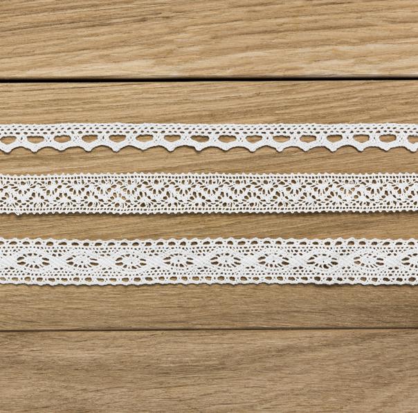 Dekoratívna Čipka - Biela (3ks)