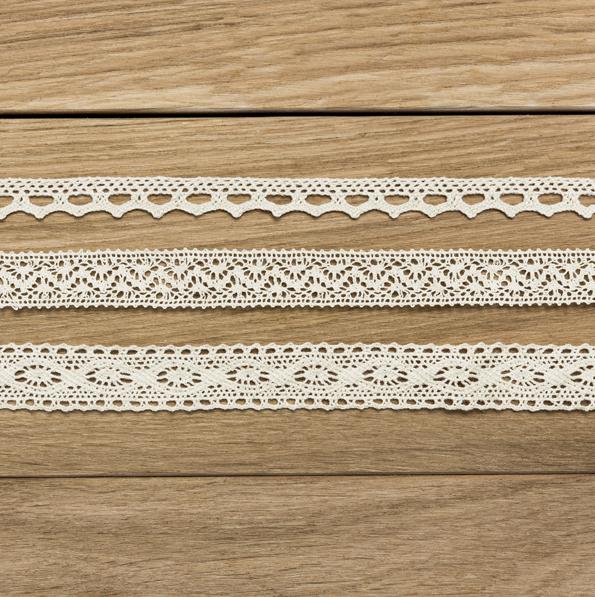 Dekoratívna Čipka - Krémová (3ks)