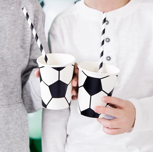 Papierové Poháre - Futbalová Lopta (6ks)