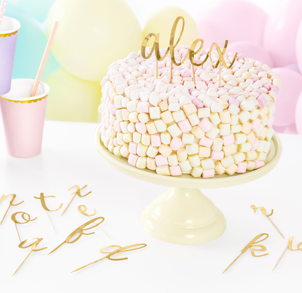 Písmenka na Tortu - Zlatá (53ks)