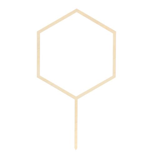 Drevená Ozdoba na Tortu - Hexagon