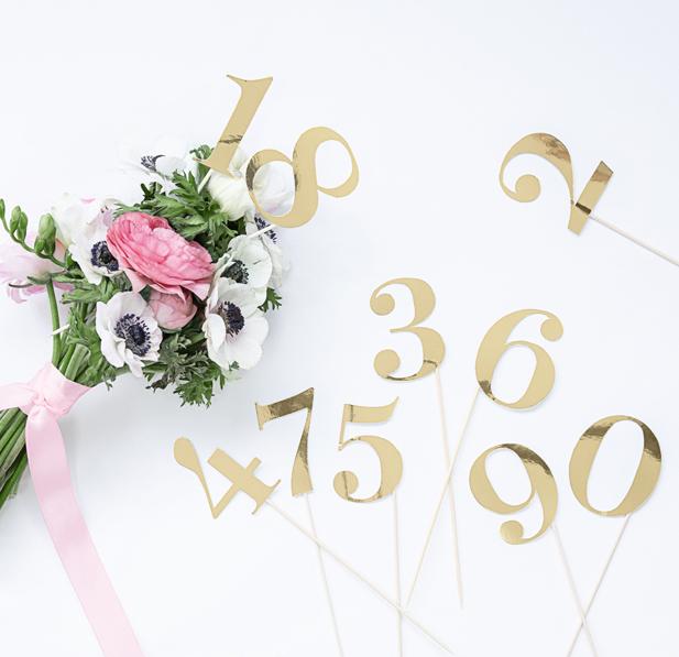 Čísla na Stoly - Zlatá (11ks)