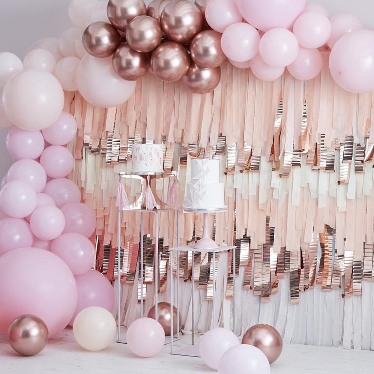 Balonová Brána - Ružová & Ružovo Zlatá (200ks)