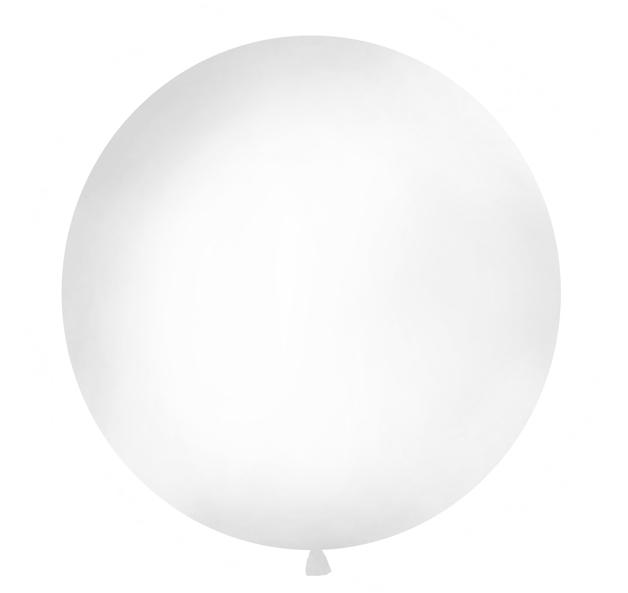 Okrúhly Balón - Pastelovo Biela (1m)